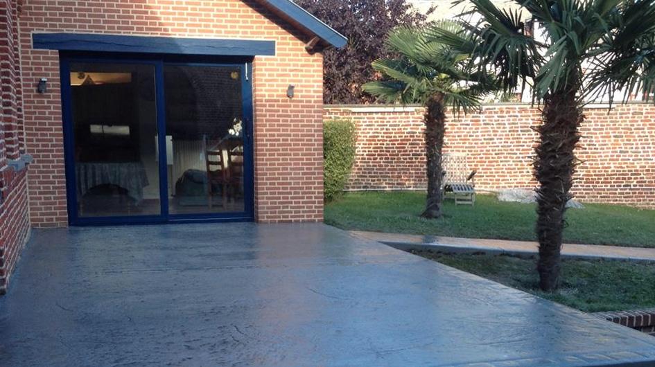 fin de chantier terrasse beton