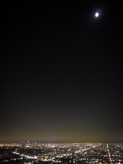 Moon over Los Angeles