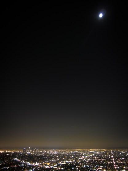 Moon over Los Angeles