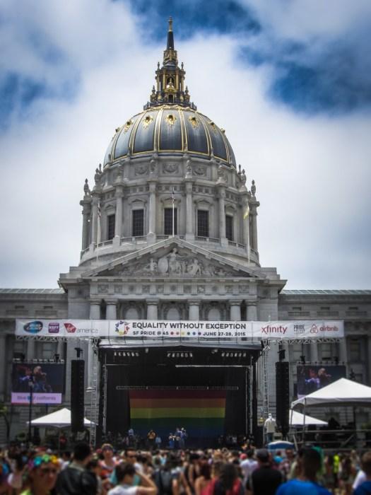 San Francisco City Hall at Pride