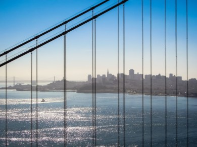 San Francisco through the Bridge, in Daylight