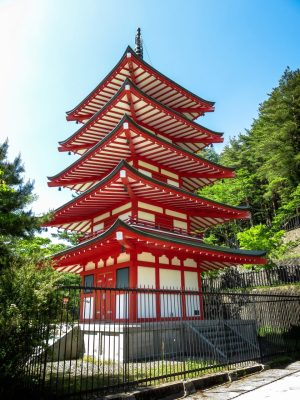 Chureito Pagoda, at an angle
