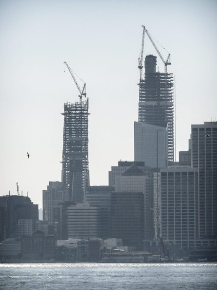 Salesforce Tower Construction