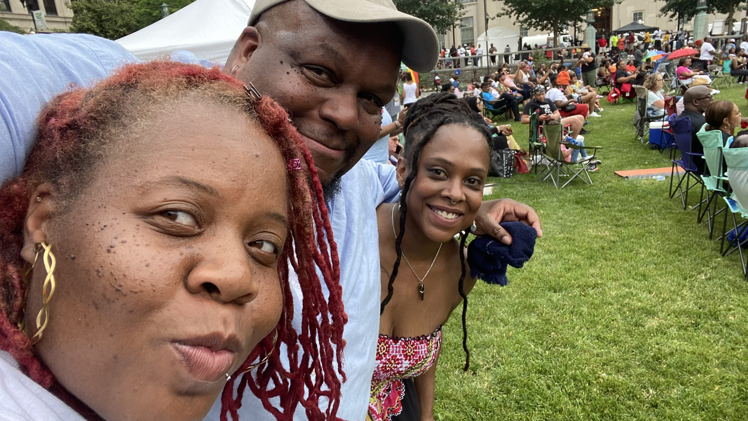 The squad at the 1st Annual Juneteenth Festival at Rodney Square