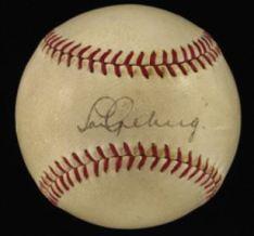 Lou Gehrig autographed ball