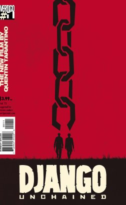 Django Unchained comic book 1 cover