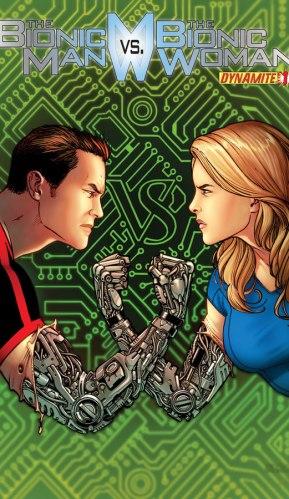 Bionic Man vs Bionic Woman Issue 1 Chen cover
