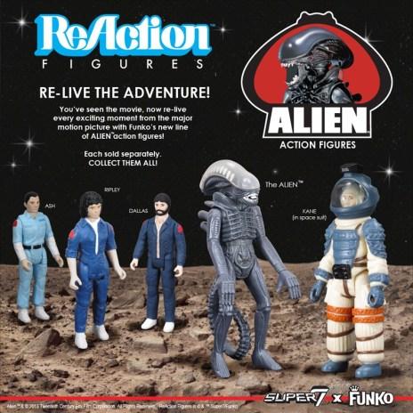 ReAction Retro Alien figures series