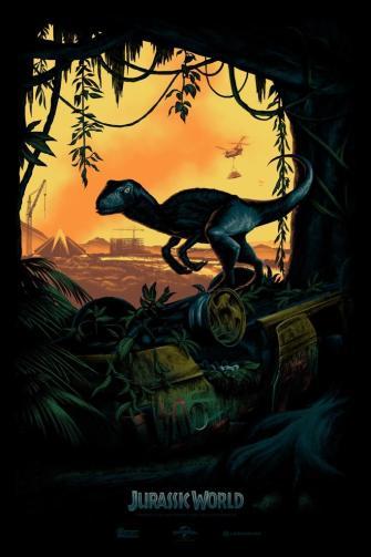SDCC 2014 Jurassic World poster reveal