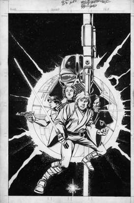 Star Wars original cover art to Star Wars Howard Chaykin