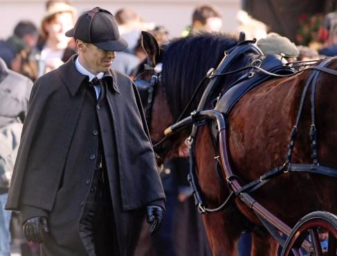 Modern Sherlock Cumberbatch as early Sherlock