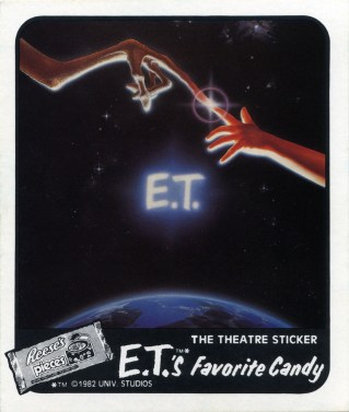 ET Reeses sticker from theater giveaway 1982