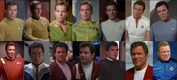 Shatner Kirk costumes b