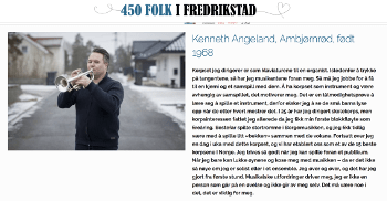 Kenneth Angeland intervjues i serien 450 folk i Fredrikstad