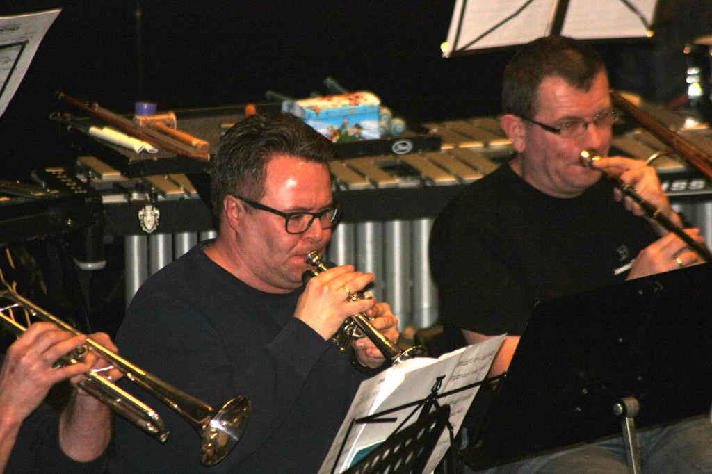 Kenneth Angeland på piccolotrompet og Steinar Norenberg på trombone