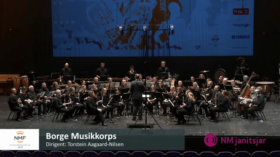 Borge musikkorps under NM i janitsjar 2018
