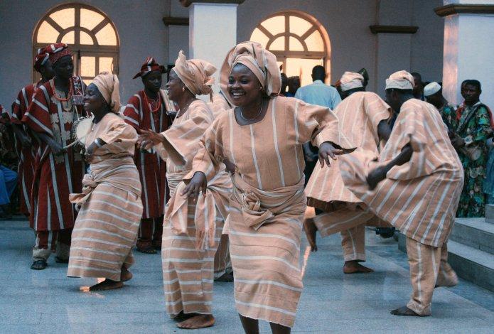 cultural dance celebration at Nigerian wedding