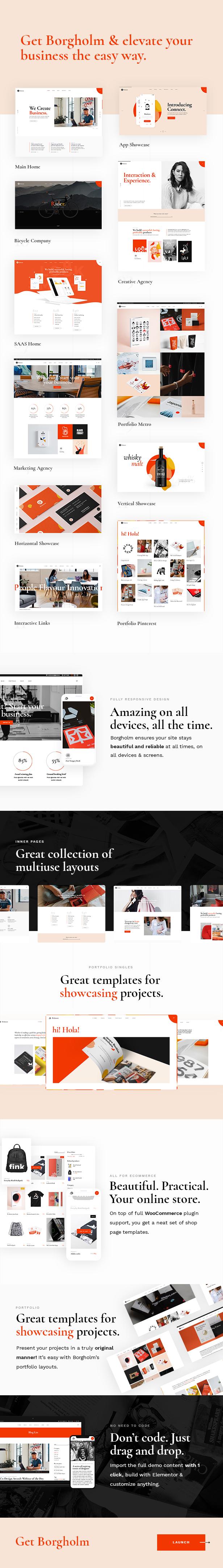 Borgholm - Marketing Agency Theme - 1