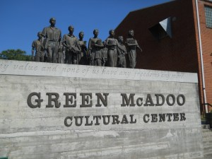 The Green McAdoo Center commemorates 12 African American students, trained at the Highlander Center, who challenged segregation at the first school in the South to integrate in 1956 in Clinton, Tennessee.