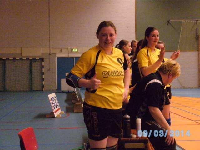 Afscheid Chantal Dames 1 1024x768 - Afscheidswedstrijd Chantal Berlauwt met Dames 1-overwinning op Fortissimo: 28-19