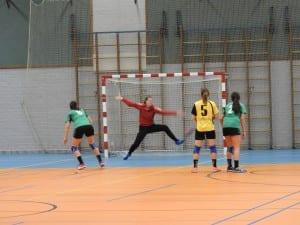 Danique Trooster stop een penalty tegen Fortissimo!