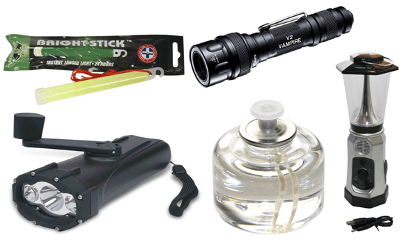 Light sources for bug-out bag