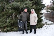 Борис Мосюр и Зинаида Ляшенко после съемок видео поздравления
