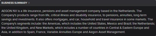 Descrição atividade AEGON seguradora