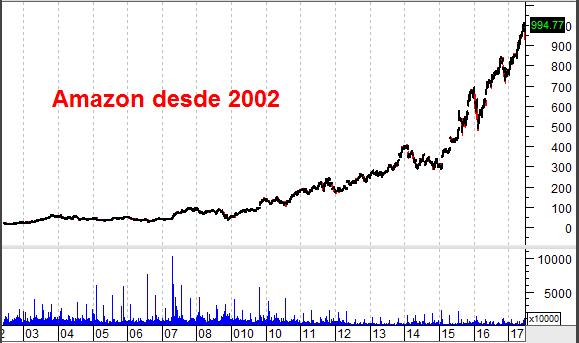 gráfico Amazon desde 2002