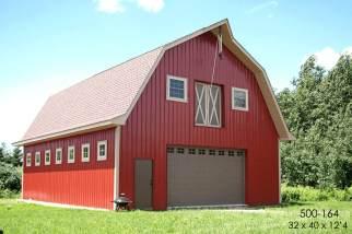 post frame gambrel barn