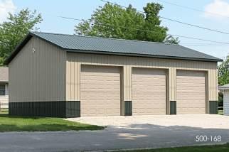 Post frame storage building