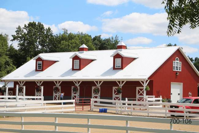 post frame equine boarding facility
