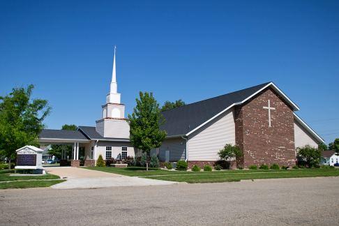 post frame brick church building
