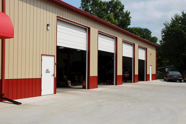 pole barn post frame auto shop