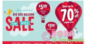 Gymboree  Semiannual Big Red Balloon sale is on!