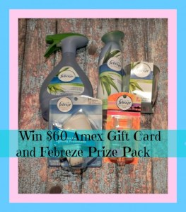 My Febreze #Noseblind Test Experience – $60 Amex Gift Card and Febreze Prize Pack Giveaway!