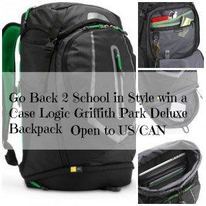 Back to School with the Case Logic Griffith Park Deluxe Backpack | Review and Giveaway