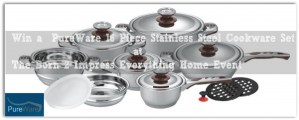 PureWare 16 Piece Stainless Steel Cookware Set a Cooks Dream Come True #Giveaway
