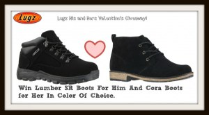 Lugz Boots His and Hers Valentine's Day Giveaway!