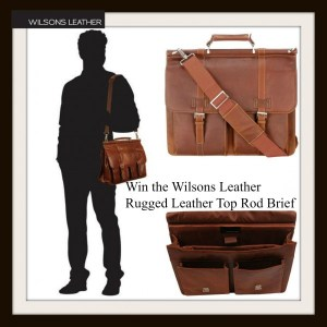 Wilsons Leather Rugged Leather Top Rod Brief Computer Bag Giveaway