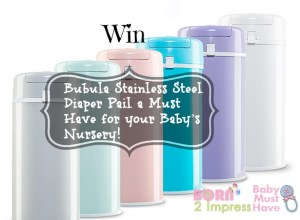 All About Baby Event- Bubula Stainless Steel Diaper Pail a Must Have for your Baby's Nursery!