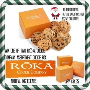Gourmet Cookies For Santa? Freshly Made, All Natural Ingredients – RŌKA Cookie Company Giveaway!