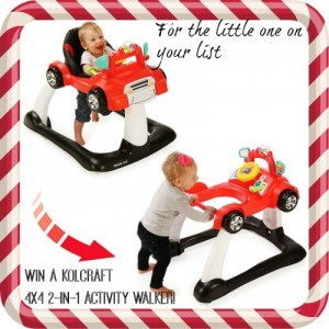 Born 2 Impress Holiday Gift Guide-Kolcraft 4×4 2-in-1 Activity Walker for the Little One's on your List!