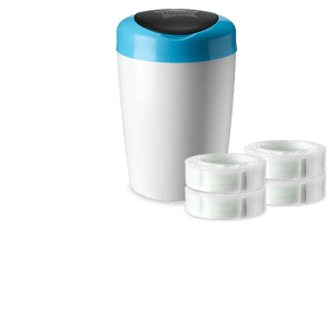 Tommee Tippee Simplee Diaper Pail- Space Saving Solution for Stinky Diapers