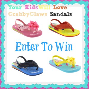 Summer Fun with the CrabbyClaws Sandals Giveaway and 15 %Discount Code