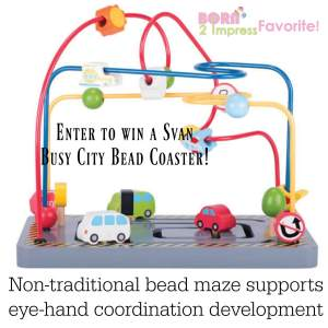Little ones Also Want to Have Fun this Summer- Svan Busy City Bead Coaster Giveaway