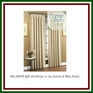 Visit the Curtain and Bath Outlet these Holidays for all your Curtains, Drapes and Window Treatments Needs!