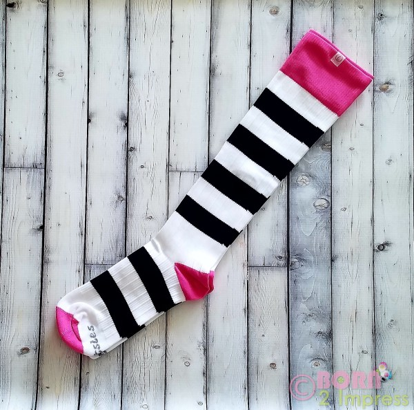 Tootsie Compression Socks- Black and Pink