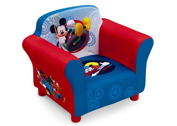 Kid's Furniture-Mickey Mouse Upholstered Chair from Delta Children