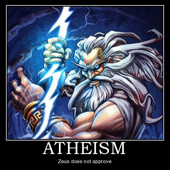 Zeus, tidak lagi relevan seiring dengan sains